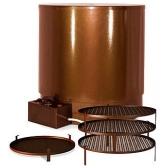 230V 800W kombinuota elektrinė karšto rūkymo rūkykla Elvin EKU( Nerudyjančio plieno)