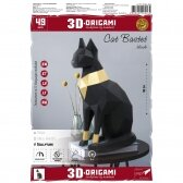 "3D ORIGAMI PAPERRAZ interjerui FIGŪRA ""Cat Bastet"", juodas, kūrybinis rinkinys"