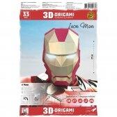"""3D ORIGAMI PAPERRAZ interjerui Kaukė """"Iron Man"""", juodas auksinis, kūrybinis rinkinys"""