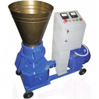 400V 11kW universalus: biokuro/pašarų granuliatorius ELMOTOR (90-150 kg/val., dvipusė matrica) 2