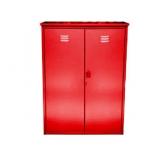 Dviguba spintelė dujų balionams (2 balionams po 50 litrų), išardoma cinkuota spalva - Raudona