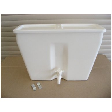 Baltos maistinės plastmasės 10 litrų bakelį (be vandens šildymo) 2