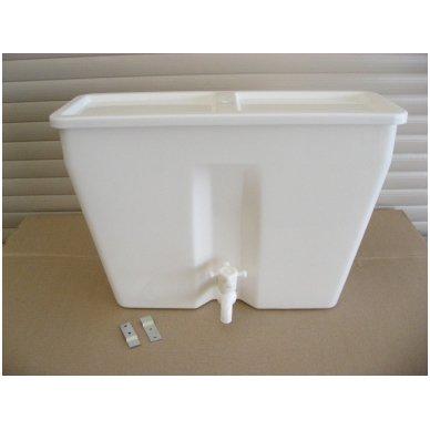 Baltos maistinės plastmasės 17 litrų bakelis (be vandens šildymo) 2