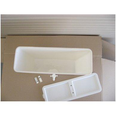 Baltos maistinės plastmasės 17 litrų bakelis (be vandens šildymo) 3