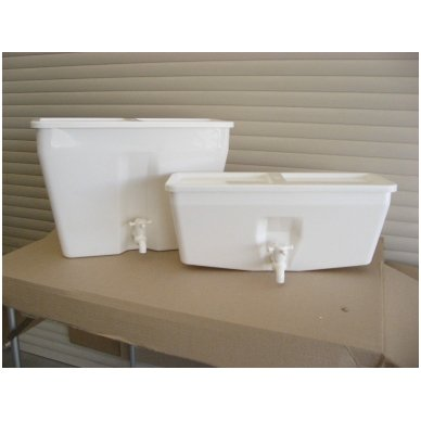Baltos maistinės plastmasės 17 litrų bakelis (be vandens šildymo) 4