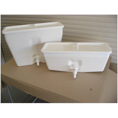 Baltos maistinės plastmasės 17 litrų bakelis (be vandens šildymo) 5