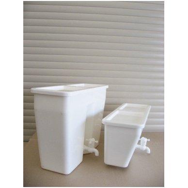 Baltos maistinės plastmasės 17 litrų bakelis (be vandens šildymo) 6