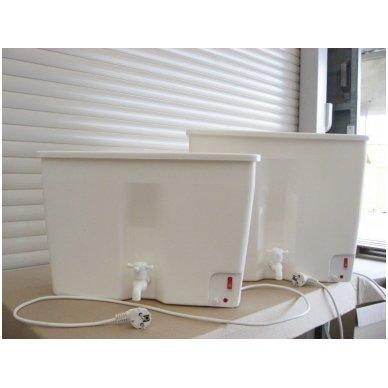 Baltos maistinės plastmasės 17 litrų bakelis (be vandens šildymo) 7