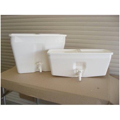 Baltos maistinės plastmasės 17 litrų bakelis (be vandens šildymo)