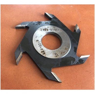 Diskinė griovelių FREZA Belmash D125x32x6 (išorinis diametras (skersmuo) 125 mm, vidinis standartinis- 32 mm,  6- su kietmetalio galiukais 2