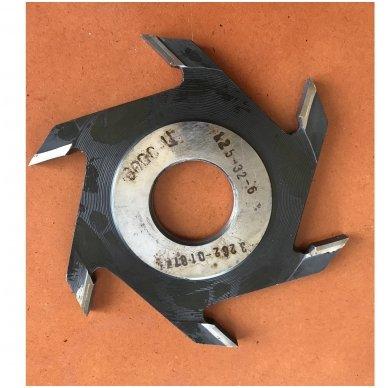 Diskinė griovelių FREZA Belmash D125x32x6 (išorinis diametras (skersmuo) 125 mm, vidinis standartinis- 32 mm,  6- su kietmetalio galiukais 3
