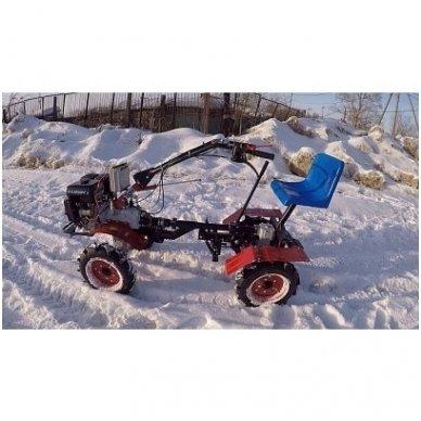 Motoblokų UGRA važiuojamasis-arimo adapteris  su galiniais varomaisiai ratais 4x4 3
