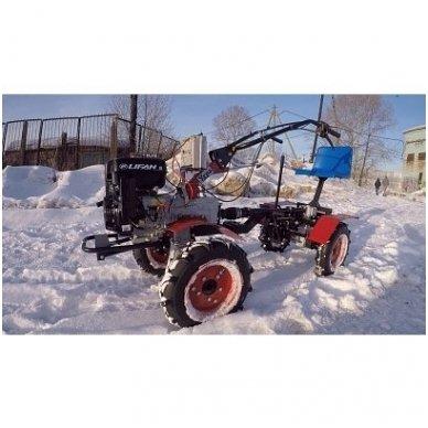 Motoblokų UGRA važiuojamasis-arimo adapteris  su galiniais varomaisiai ratais 4x4 5