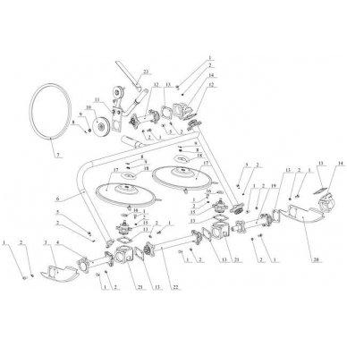 Rotorinė šienapjovė ZARIA (motoblokas OKA, NEVA) 6